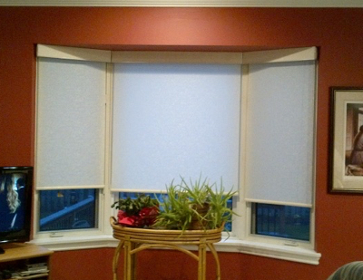 Bow roller shades