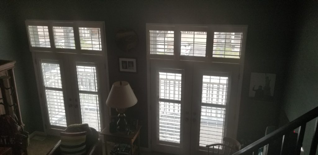Shutters for Upper Living Space